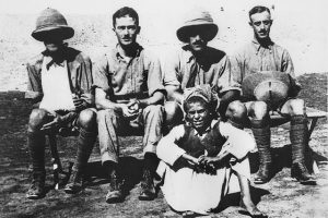 Australian soldiers with Armenians